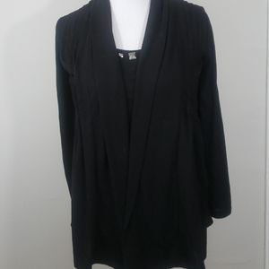 Black cardigan with built in tank
